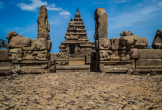 Le tempie della riva di Mahabalipuram Immagine Stock Libera da Diritti