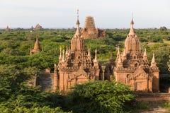 Le tempie e le pagode di Bagan, Myanmar vicino a Mandalay fotografia stock