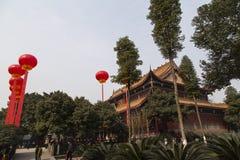 Le temple à Chengdu, porcelaine Photos libres de droits