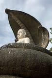 Le temple admirablement conçu de tête de cobra chez Pidurangala dans Sri Lanka Photographie stock