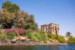 Le temple antique de Philae Image libre de droits