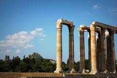 Le temple antique de Zeus olympien à Athènes, Grèce photo libre de droits
