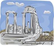 Le temple antique ruine l'illustration Photo stock