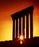 Le temple Baalbek, Liban de Jupiter photo libre de droits