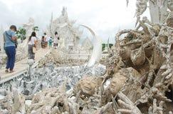 Le temple blanc en Chiang Rai images stock