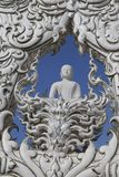 Le temple blanc en Chiang Rai, Thaïlande Image libre de droits