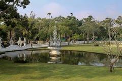 Le temple blanc en Chiang Rai, Thaïlande Images libres de droits