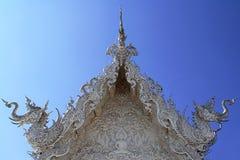 Le temple blanc en Thaïlande Images libres de droits