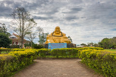 Le temple bouddhiste avec la statue de Bouddha de géant à Foz font l'iguacu Images stock