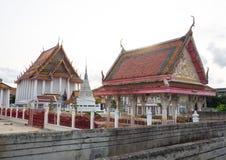 Le temple bouddhiste de Kanlayanamit est situé en sous-secteur de Wat Kanlaya, sur la banque de Thonburi de Chao Phraya River photo libre de droits