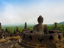 Le temple bouddhiste du 9ème siècle Borobudur, Magelang Regency de Mahayana, près de Yogyakarta, Java Island, Indonésie Images libres de droits