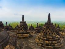 Le temple bouddhiste du 9ème siècle Borobudur, Magelang Regency de Mahayana, près de Yogyakarta, Java Island, Indonésie Photographie stock libre de droits