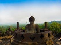 Le temple bouddhiste du 9ème siècle Borobudur, Magelang Regency de Mahayana, près de Yogyakarta, Java Island, Indonésie Images stock