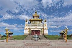 Le temple bouddhiste principal de la République de la Kalmoukie dans Elista, Russie Images stock