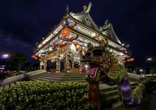 Le temple chinois d'Udon Thani, Thaïlande images stock