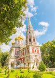 Le temple commémoratif de la naissance du Christ, Shipka, Bulgarie images stock