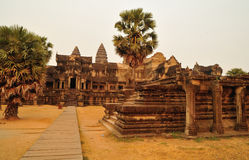Le temple d'Angkor Vat Images libres de droits
