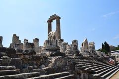 Le temple d'Apollo dans Didim image libre de droits