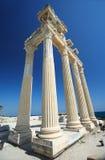Le temple d'Apollo dans le côté Image libre de droits