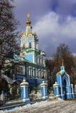 Le temple d'Arkhangel Michael dans le skoye de ` de sko-Arkhangel de ` de Nikol La Russie Photographie stock libre de droits