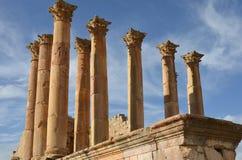 Le temple d'Artémis, Jerash Image stock