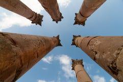 Le temple d'Artémis - Jerash, Jordanie Images stock