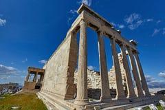 Le temple d'Erectheion, Acropole, Athènes photo libre de droits