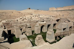 Le temple d'Osirion chez Abydos, Egypte photographie stock