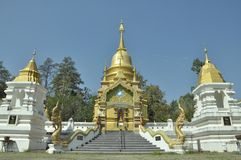 Le temple dans le nord thaïlandais photographie stock
