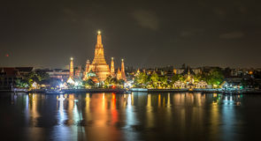 Le Temple of Dawn, Wat Arun Thailand image stock