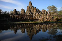 Le temple de Bayon, Angkor Photo stock