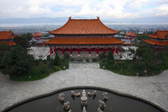 Le temple de Chongsheng Image libre de droits