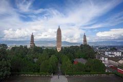 Le temple de Chongsheng Photo stock