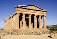 Le temple de Concordia à Agrigente, Sicile Photographie stock libre de droits