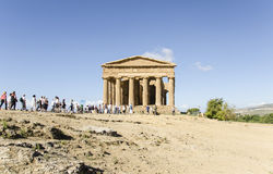 Le temple de Concordia à Agrigente, Sicile Photos stock