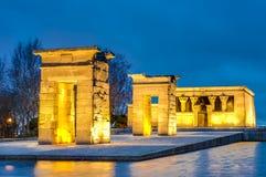 Le temple de Debod à Madrid, Espagne images stock