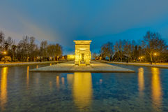 Le temple de Debod à Madrid, Espagne Photographie stock libre de droits