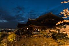 Le temple de dera de Kiyomizu, s'allument au printemps Photos stock