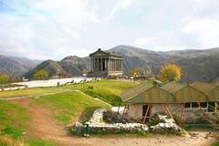 Le temple de Garni est bâtiment colonnaded gréco-romain près d'Erevan, Arménie Images stock