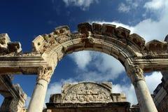 Le temple de Hadrian Image libre de droits