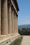 Le temple de Hephaestus, agora antique d'Athènes Image stock