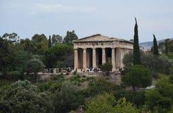 Le temple de Hephaestus dans l'agora d'Athènes Photographie stock libre de droits