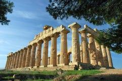 Le temple de Hera, chez Selinunte Image libre de droits