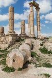 Le temple de Hercule dans la citadelle d'Amman, Jordanie Photos stock