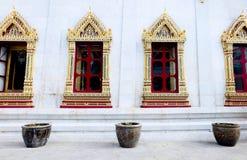 le temple de la fenêtre Photos libres de droits