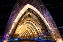 Le temple de la promesse au cours de la nuit à l'homme brûlant 2015 Image stock