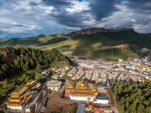 Le temple de Langmu Image libre de droits