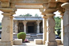 Le temple de Mahadeva, Chalukya occidental, Itagi, Koppal, Karnataka Image stock