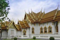 Le temple de marbre dans le watbencha de nom de la Thaïlande Photo stock