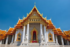 Le temple de marbre, Wat Benchamabopitr Dusitvanaram Bangkok THAÏLANDE. Photographie stock